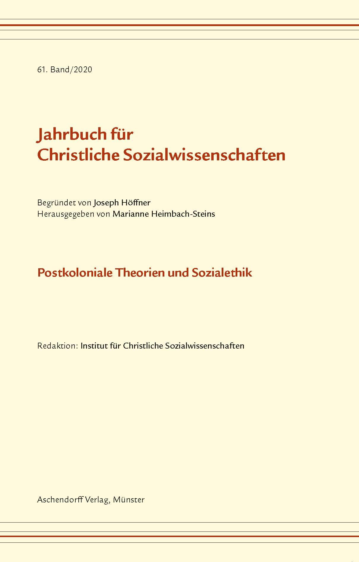 Ansehen Bd. 61 (2020): Postkoloniale Theorien und Sozialethik