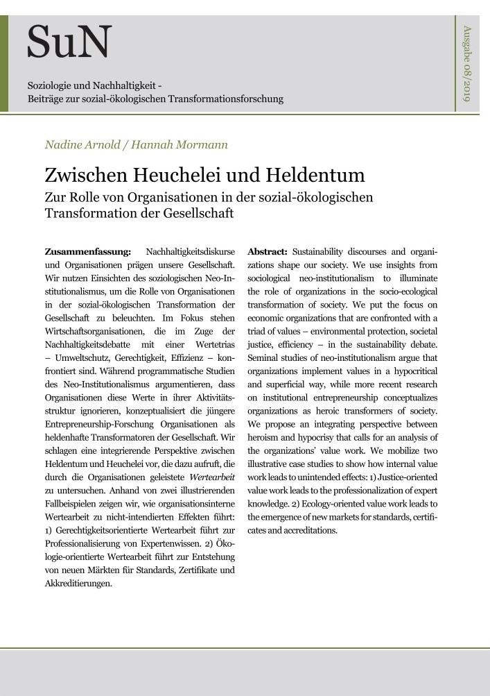 """Titelbild Ausgabe """"Zwischen Heuchelei und Heldentum"""""""
