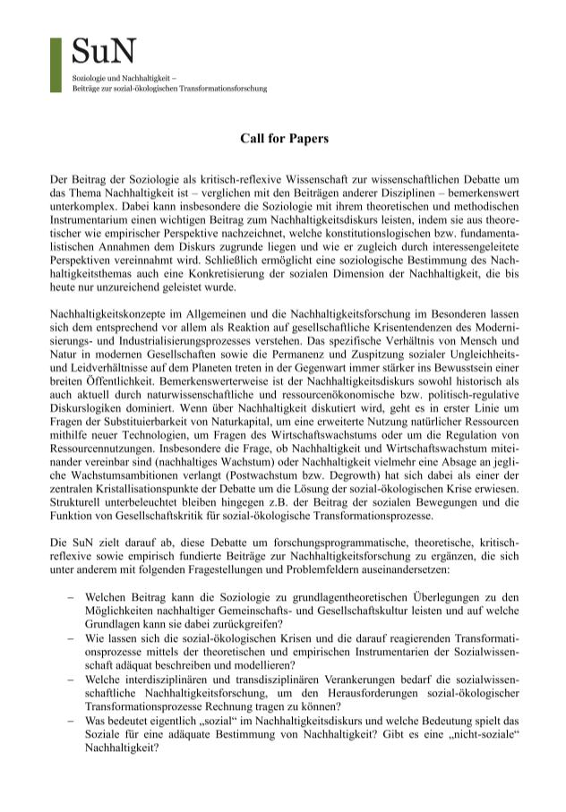 Ansehen Bd. 2 Nr. 1 (2016): Beitrag der Soziologie zum Diskurs um das Thema Nachhaltigkeit