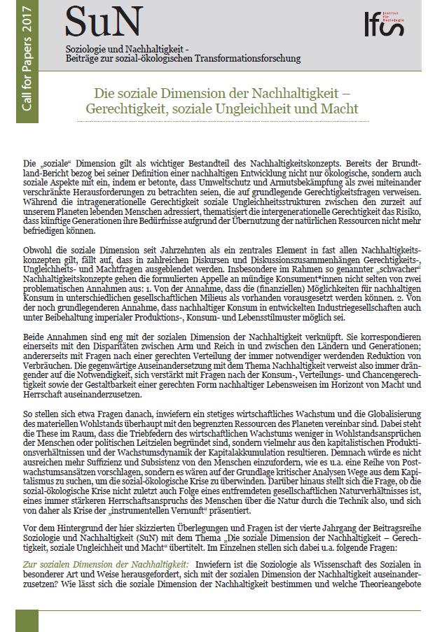 Ansehen Bd. 5 Nr. 1 (2019): Die soziale Dimension der Nachhaltigkeit