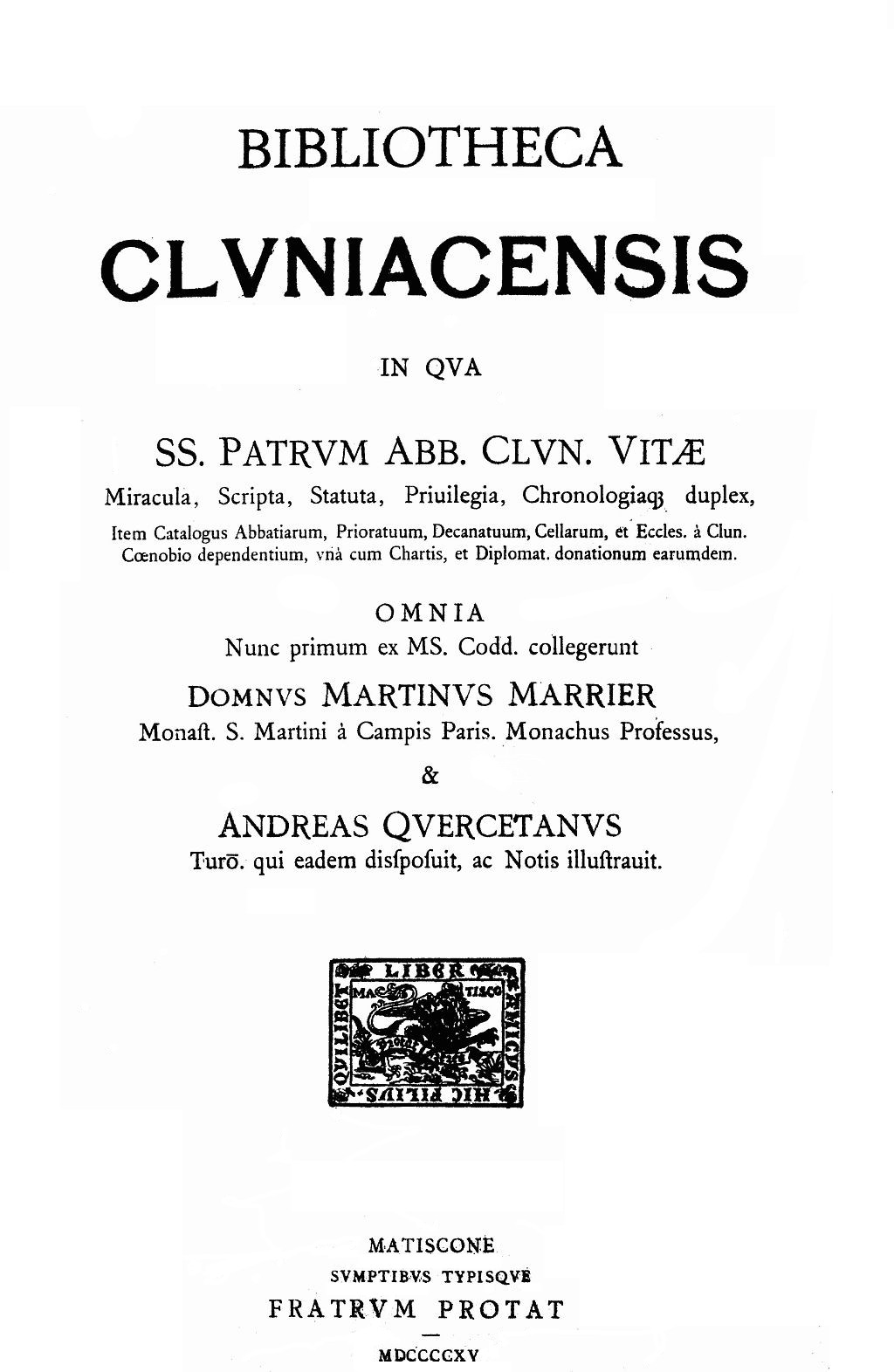 Bibliotheca cluniacensis