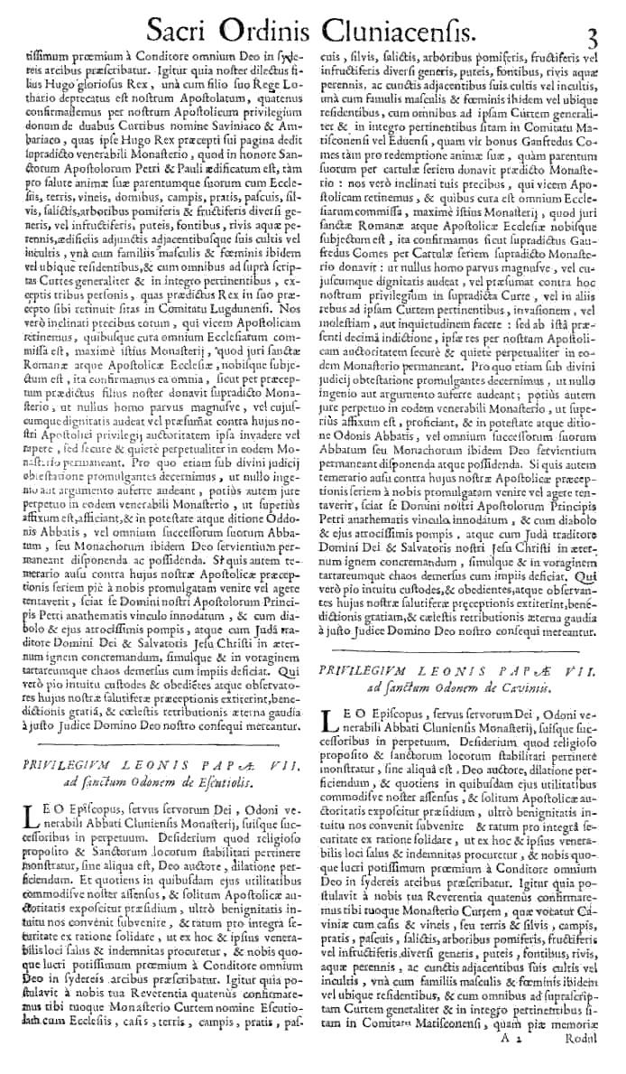 Bullarium Cluniacense p. 003   ⇒ Index privilegiorum