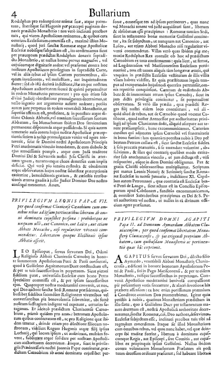 Bullarium Cluniacense p. 004   ⇒ Index privilegiorum