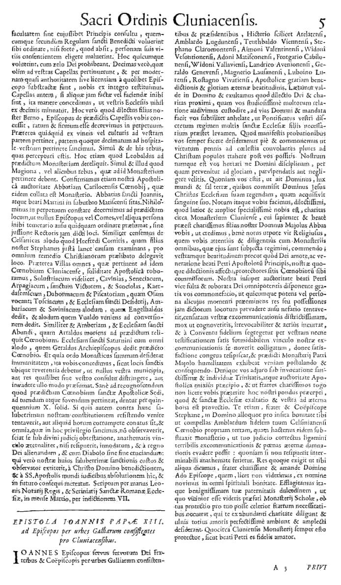 Bullarium Cluniacense p. 005   ⇒ Index privilegiorum