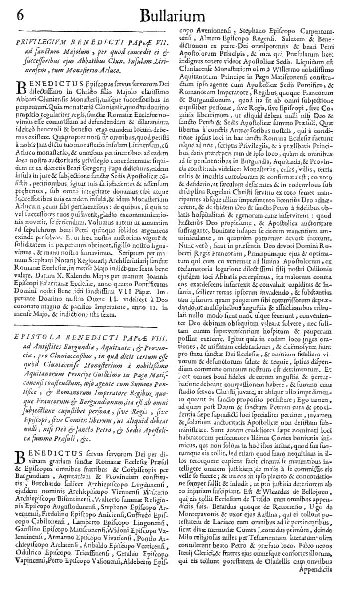 Bullarium Cluniacense p. 006   ⇒ Index privilegiorum