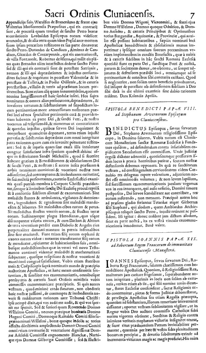 Bullarium Cluniacense p. 007   ⇒ Index privilegiorum