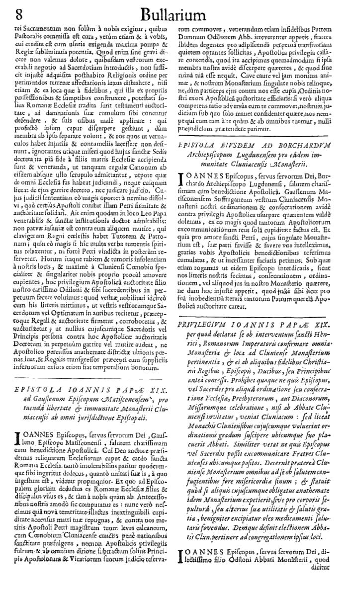 Bullarium Cluniacense p. 008   ⇒ Index privilegiorum