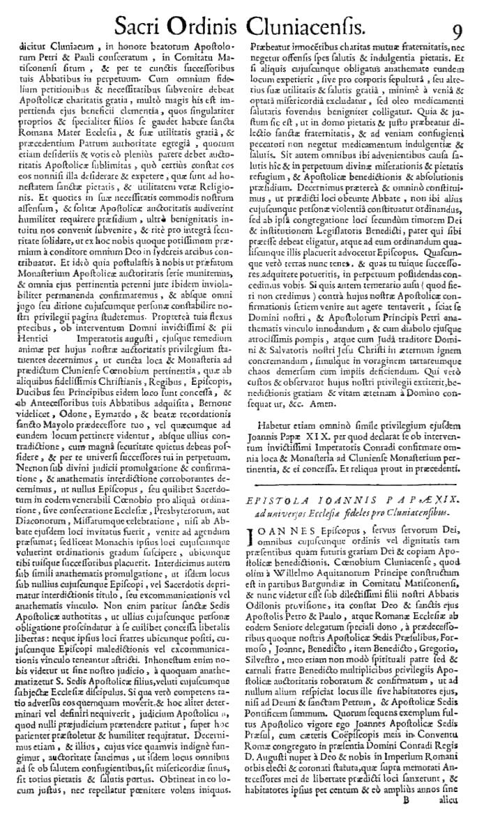 Bullarium Cluniacense p. 009   ⇒ Index privilegiorum