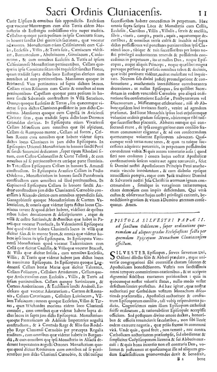 Bullarium Cluniacense p. 011   ⇒ Index privilegiorum