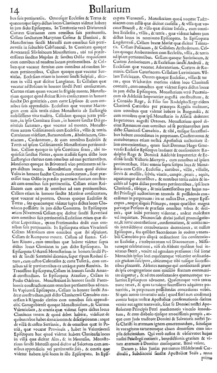 Bullarium Cluniacense p. 014   ⇒ Index privilegiorum