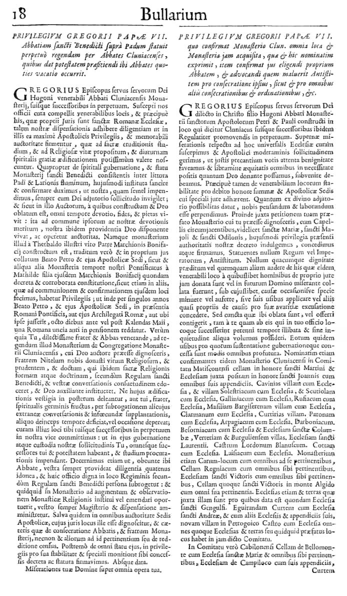 Bullarium Cluniacense p. 018   ⇒ Index privilegiorum