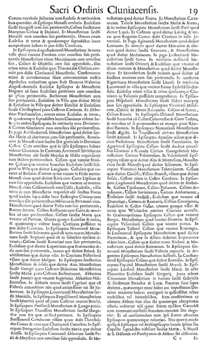 Bullarium Cluniacense p. 019   ⇒ Index privilegiorum