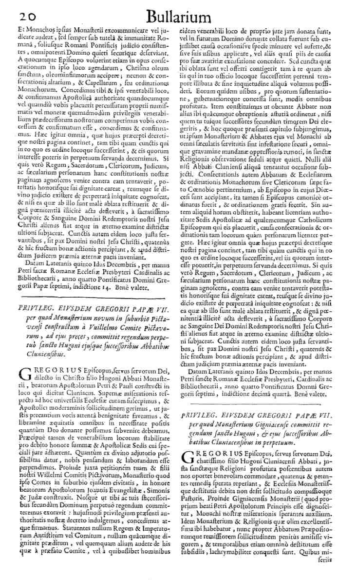 Bullarium Cluniacense p. 020   ⇒ Index privilegiorum