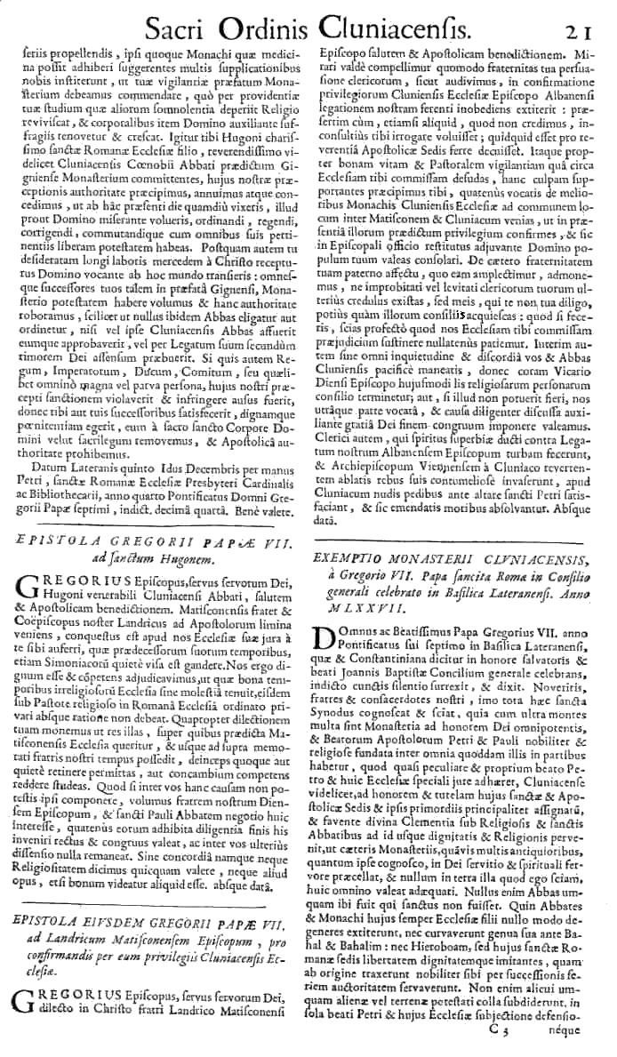 Bullarium Cluniacense p. 021   ⇒ Index privilegiorum