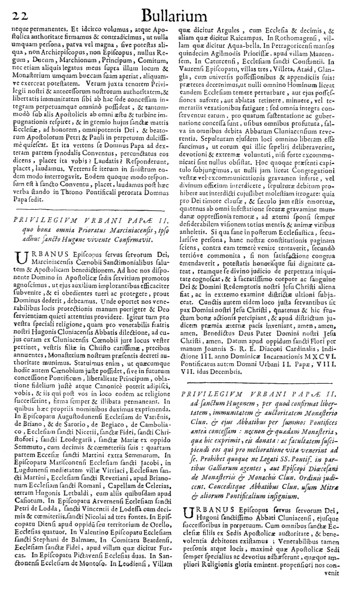 Bullarium Cluniacense p. 022   ⇒ Index privilegiorum