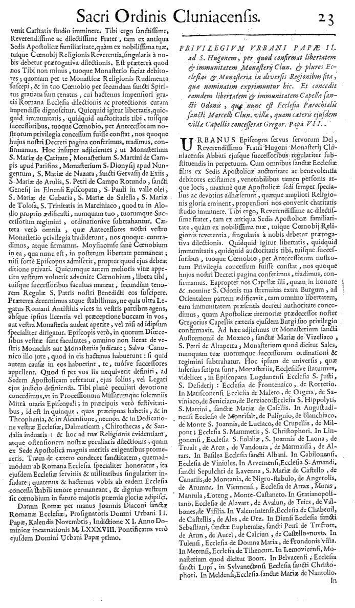 Bullarium Cluniacense p. 023   ⇒ Index privilegiorum