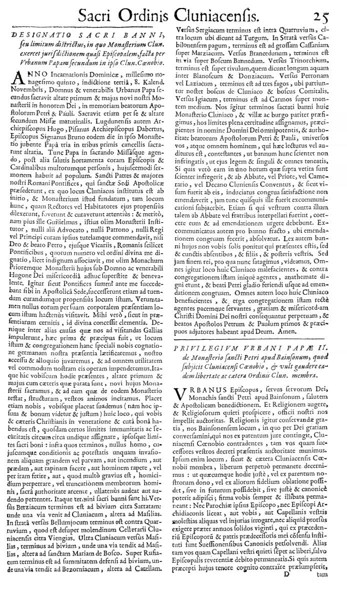 Bullarium Cluniacense p. 025   ⇒ Index privilegiorum