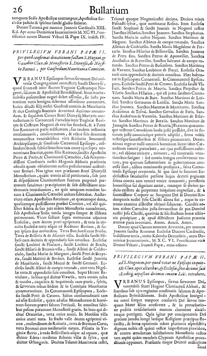 Bullarium Cluniacense p. 026   ⇒ Index privilegiorum
