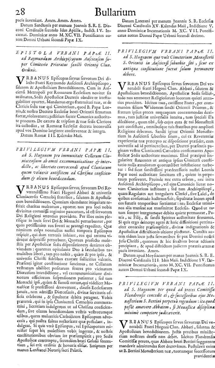 Bullarium Cluniacense p. 028   ⇒ Index privilegiorum