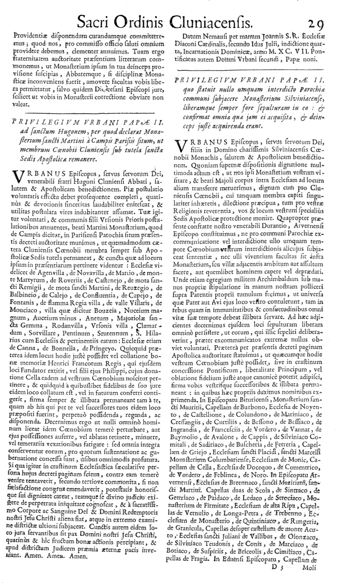 Bullarium Cluniacense p. 029   ⇒ Index privilegiorum