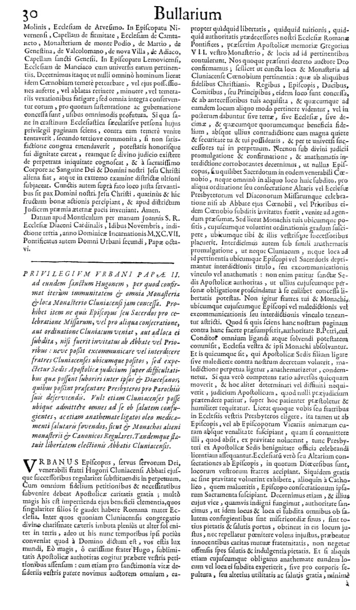 Bullarium Cluniacense p. 030   ⇒ Index privilegiorum