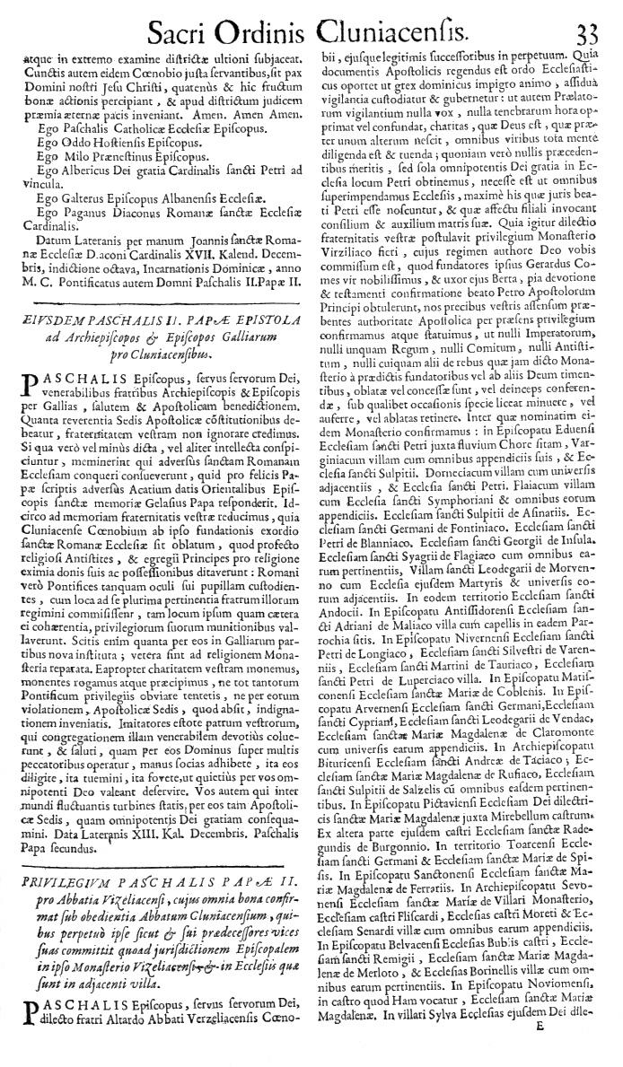 Bullarium Cluniacense p. 033   ⇒ Index privilegiorum