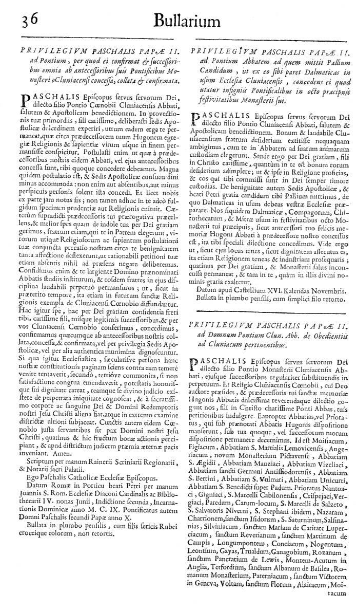 Bullarium Cluniacense p. 036   ⇒ Index privilegiorum