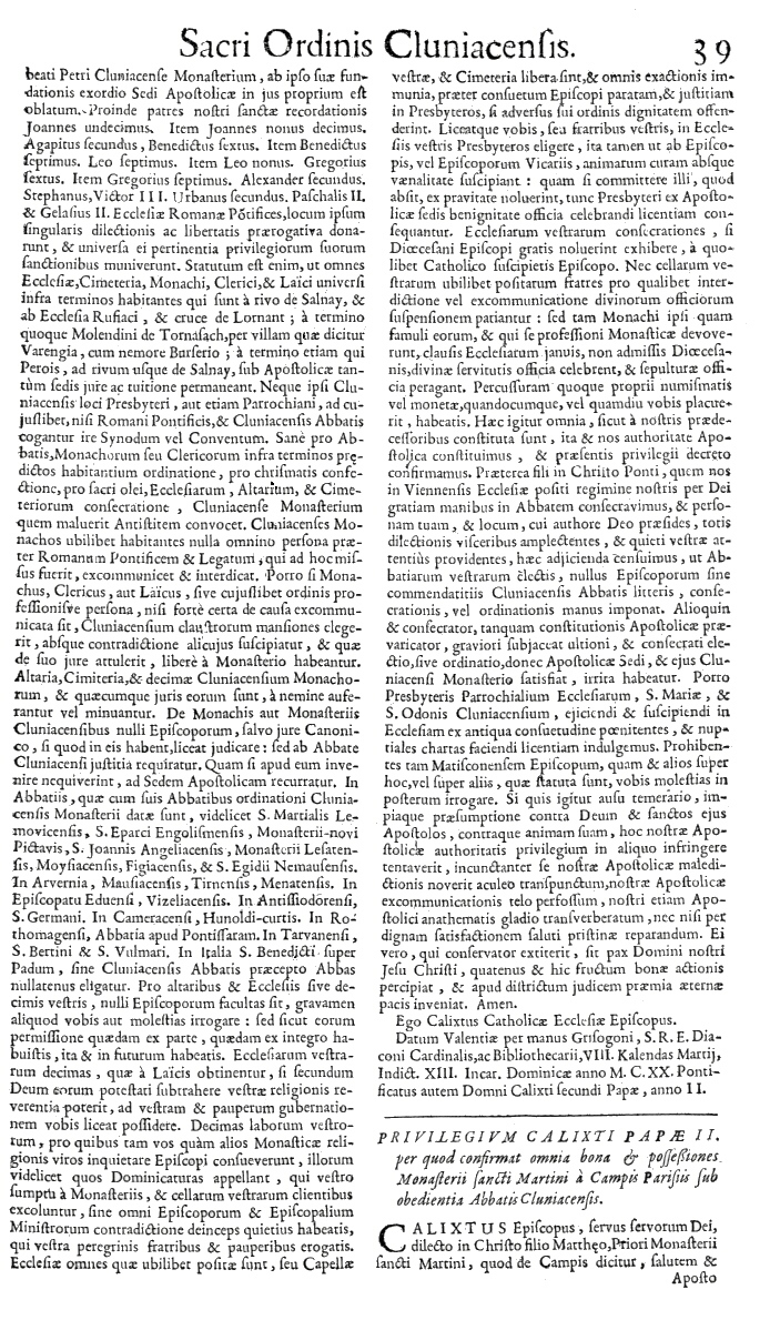 Bullarium Cluniacense p. 039   ⇒ Index privilegiorum