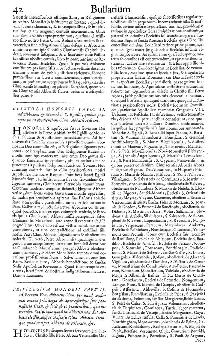 Bullarium Cluniacense p. 042   ⇒ Index privilegiorum