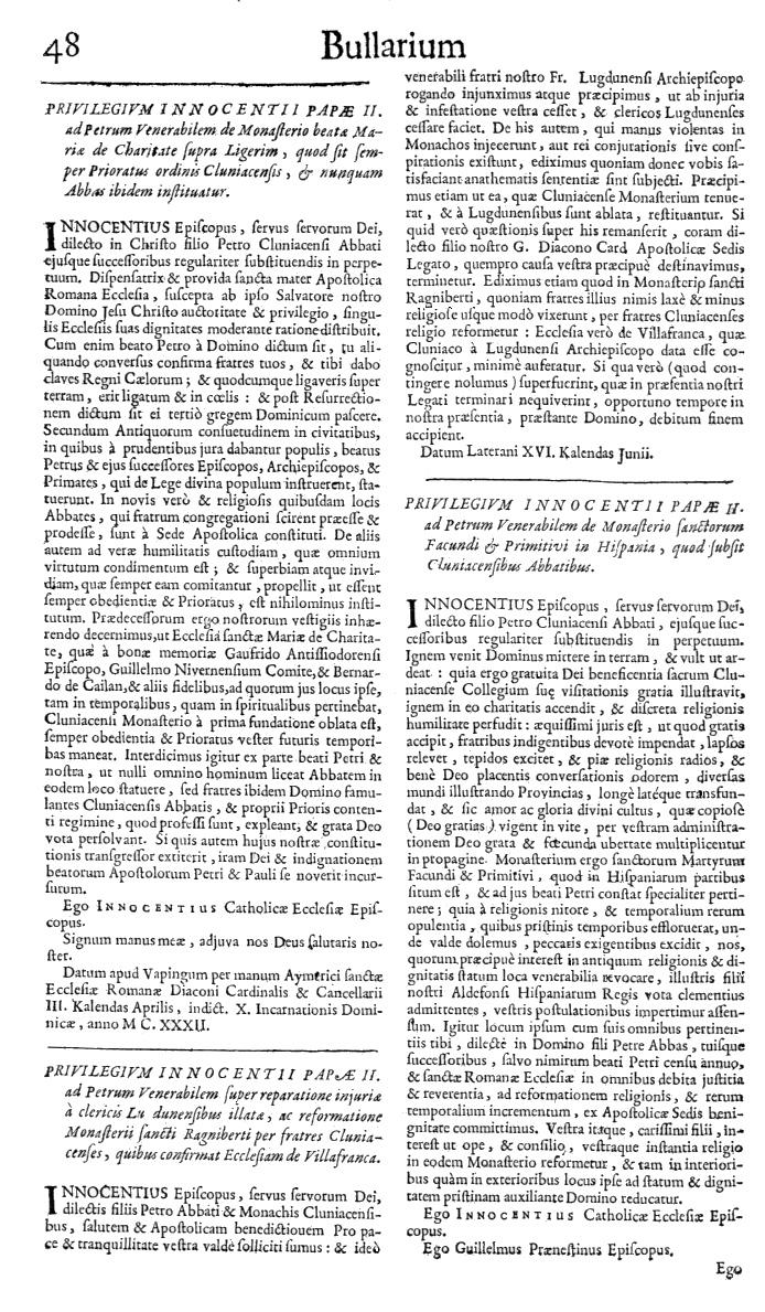 Bullarium Cluniacense p. 048   ⇒ Index privilegiorum