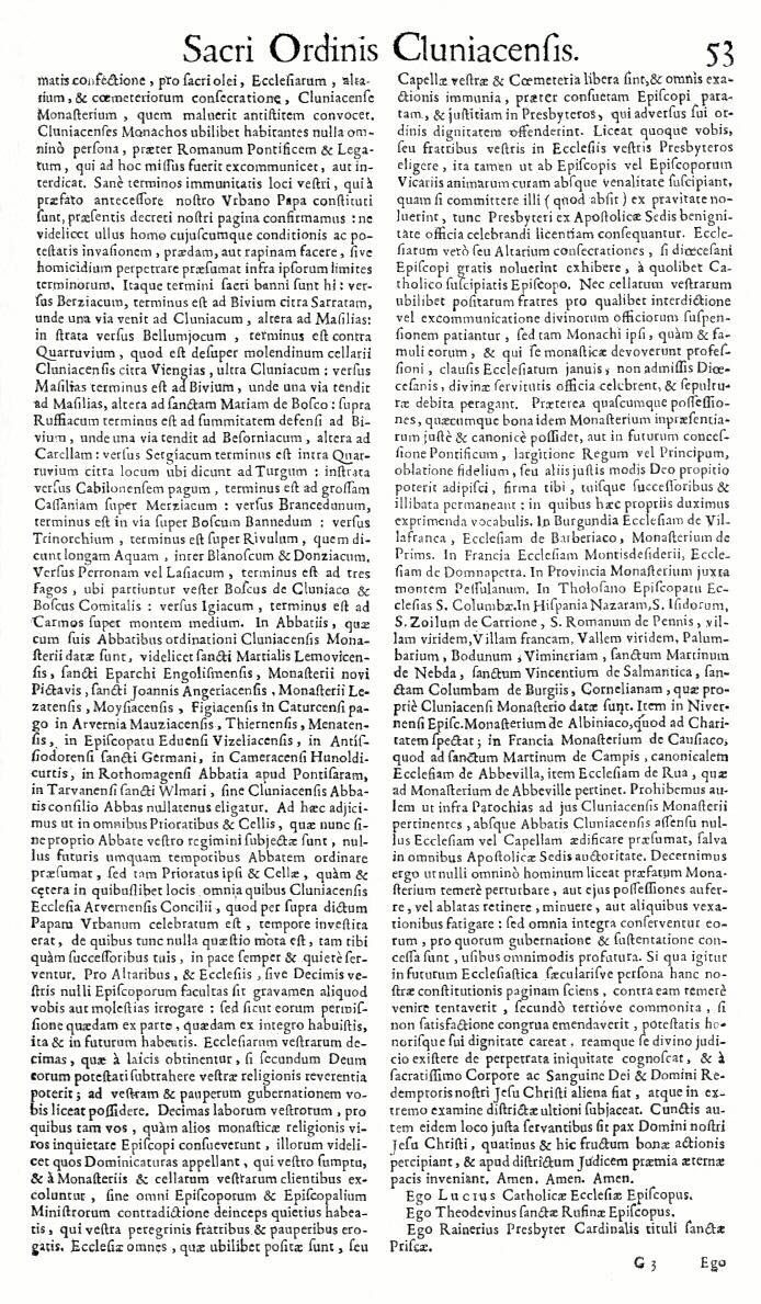 Bullarium Cluniacense p. 053   ⇒ Index privilegiorum