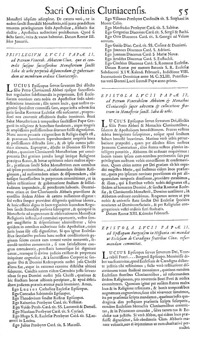 Bullarium Cluniacense p. 055   ⇒ Index privilegiorum