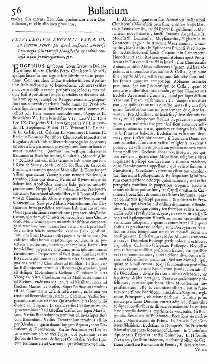 Bullarium Cluniacense p. 056   ⇒ Index privilegiorum