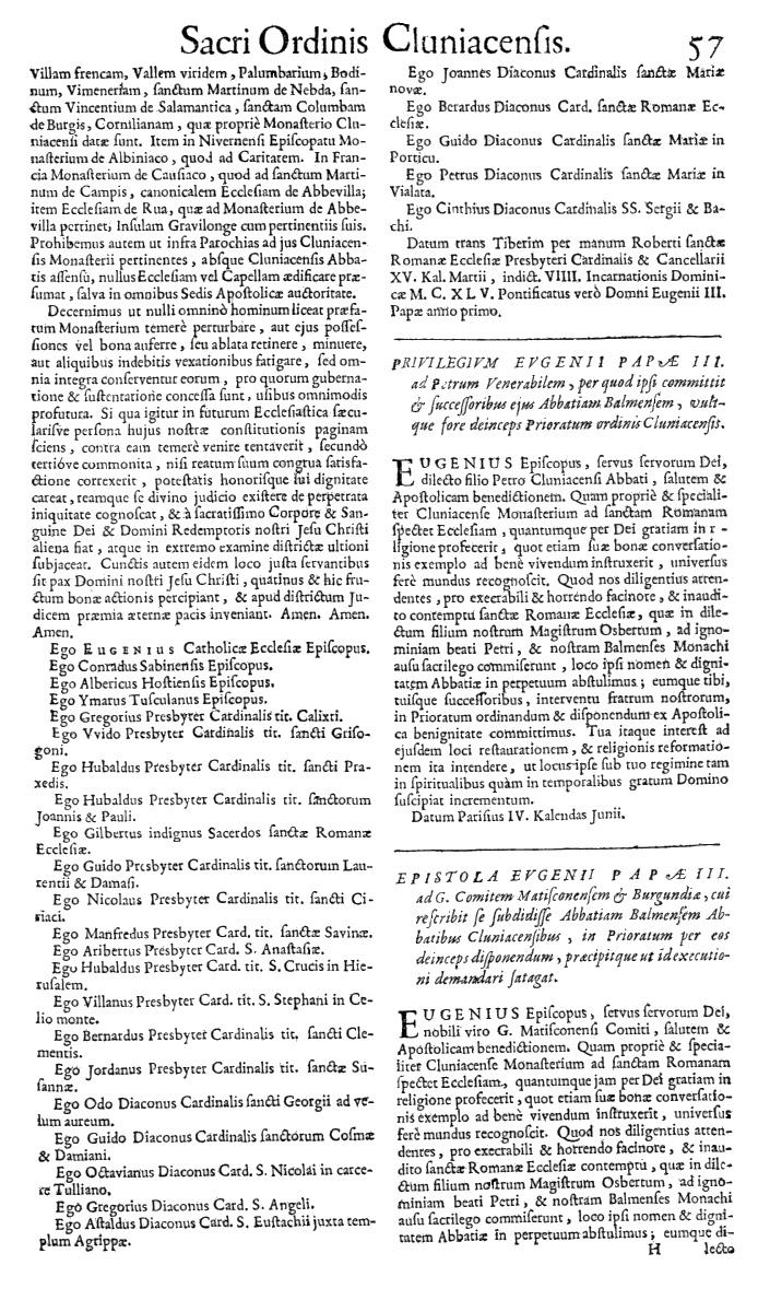 Bullarium Cluniacense p. 057   ⇒ Index privilegiorum