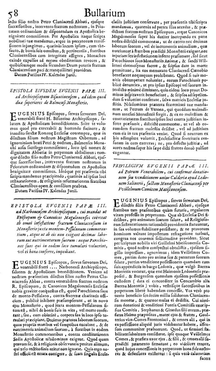 Bullarium Cluniacense p. 058   ⇒ Index privilegiorum