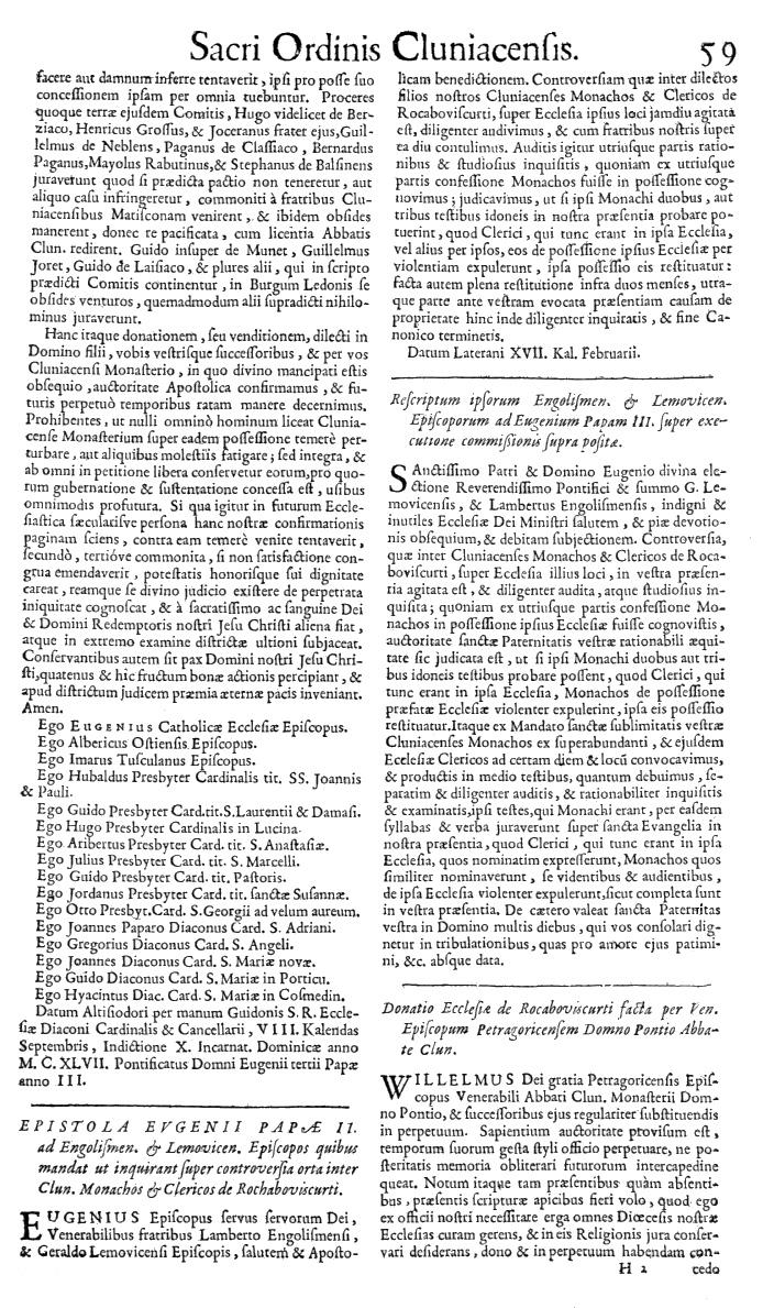 Bullarium Cluniacense p. 059   ⇒ Index privilegiorum