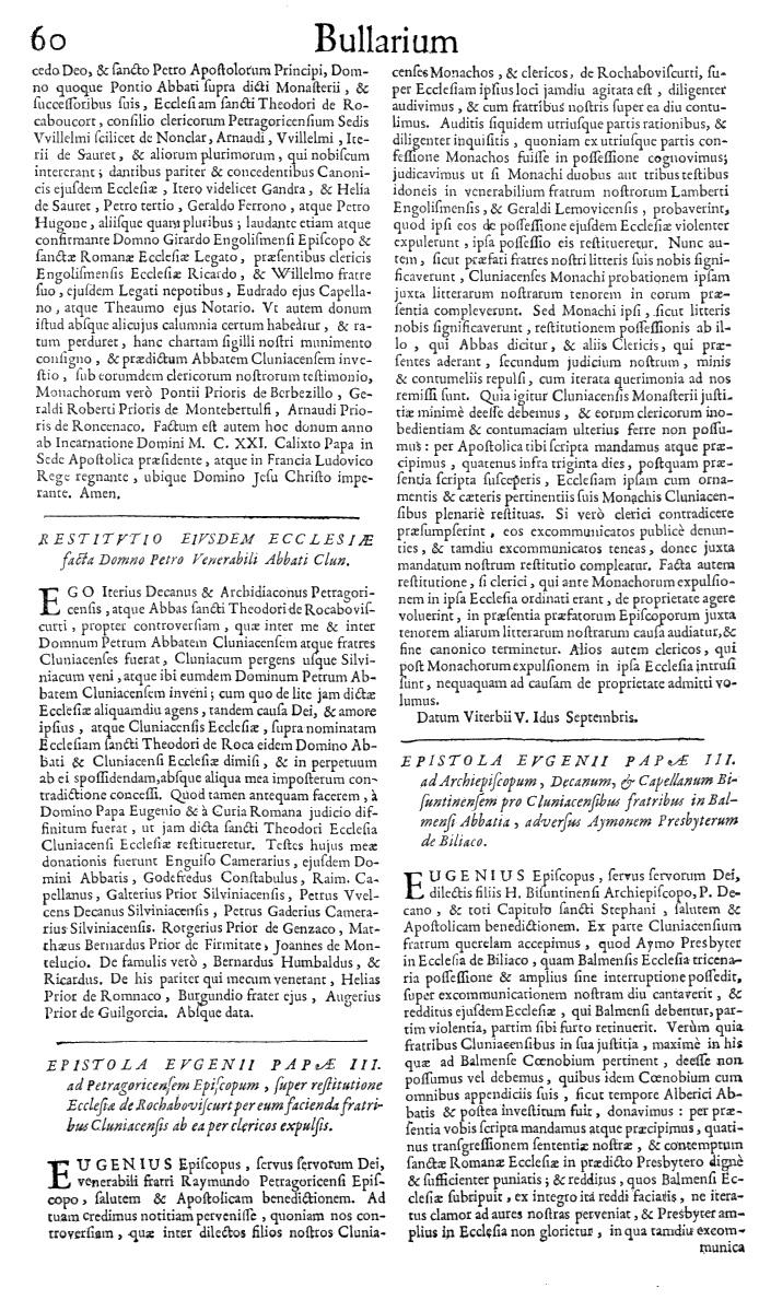 Bullarium Cluniacense p. 060   ⇒ Index privilegiorum