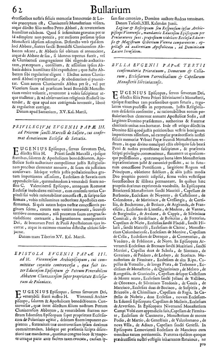 Bullarium Cluniacense p. 062   ⇒ Index privilegiorum