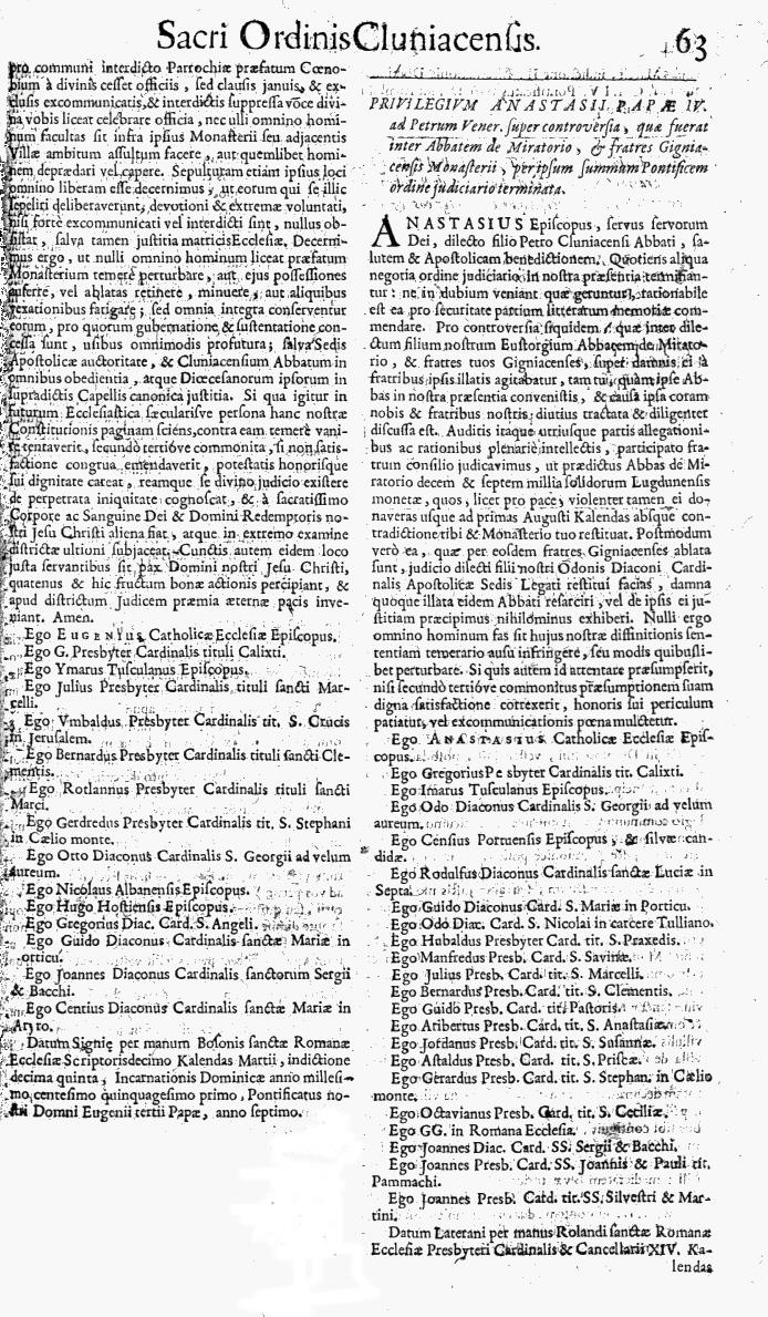 Bullarium Cluniacense p. 063   ⇒ Index privilegiorum