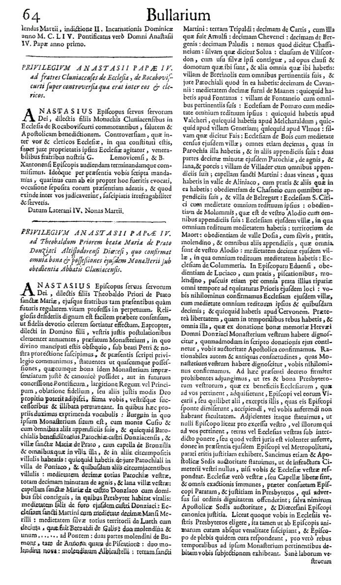 Bullarium Cluniacense p. 064   ⇒ Index privilegiorum