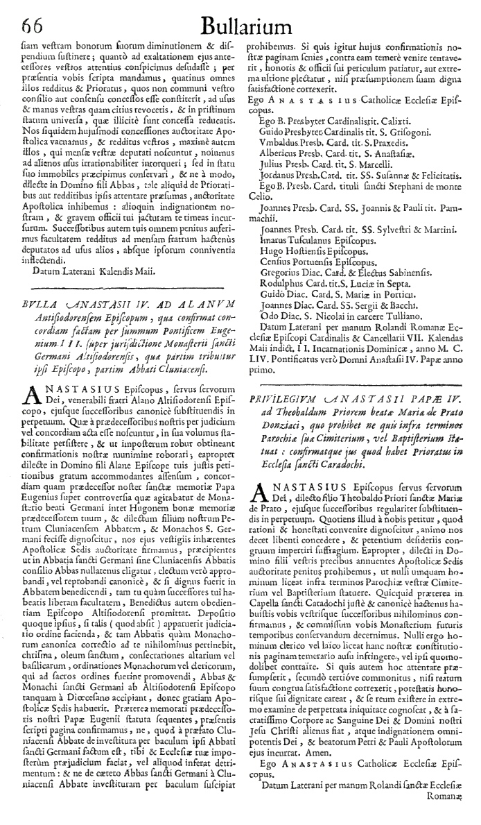 Bullarium Cluniacense p. 066   ⇒ Index privilegiorum