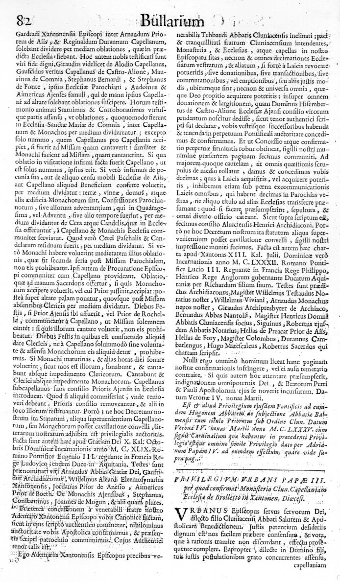 Bullarium Cluniacense p. 082   ⇒ Index privilegiorum