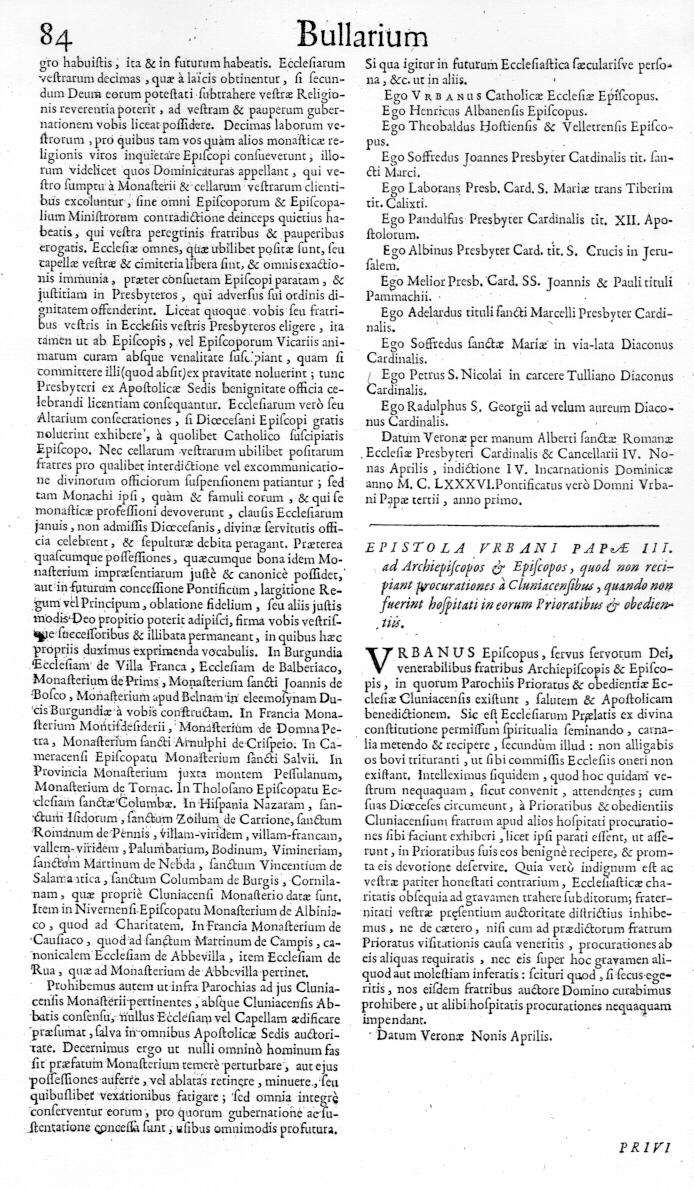 Bullarium Cluniacense p. 084   ⇒ Index privilegiorum