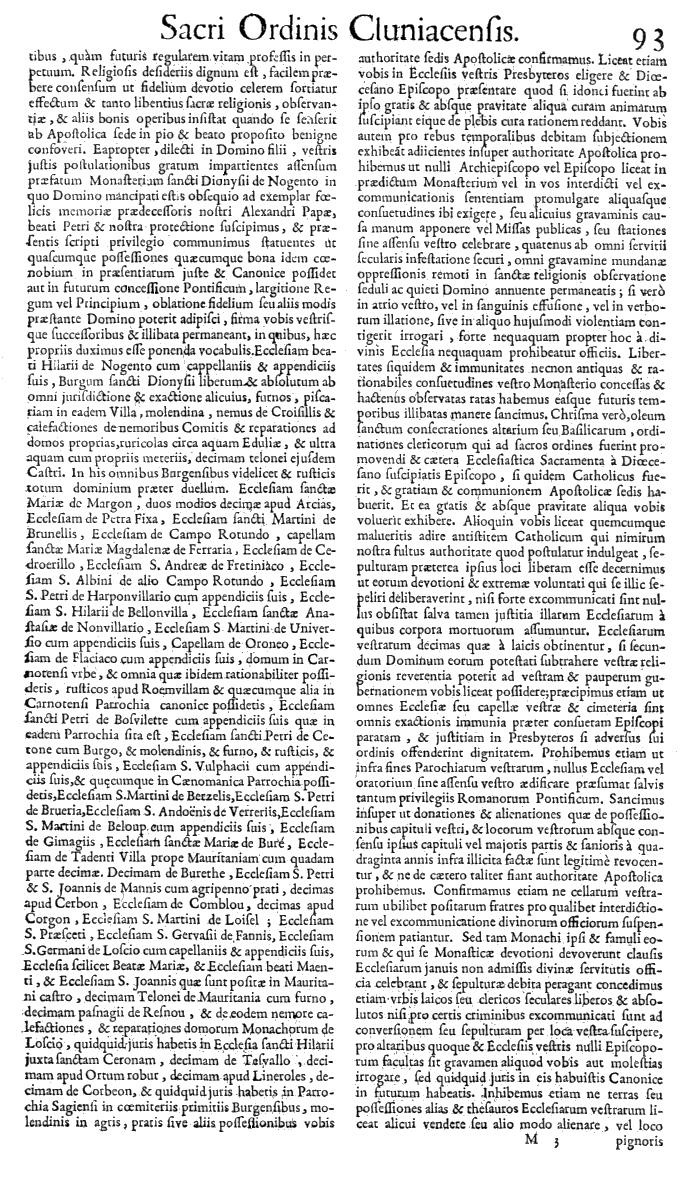 Bullarium Cluniacense p. 093   ⇒ Index privilegiorum