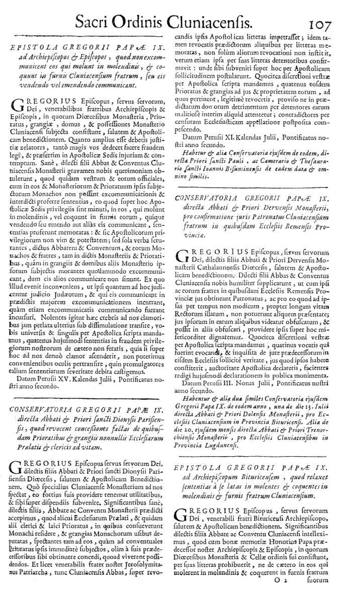 Bullarium Cluniacense p. 107   ⇒ Index privilegiorum