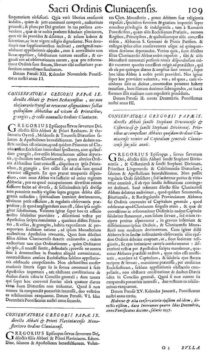 Bullarium Cluniacense p. 109     ⇒ Index privilegiorum
