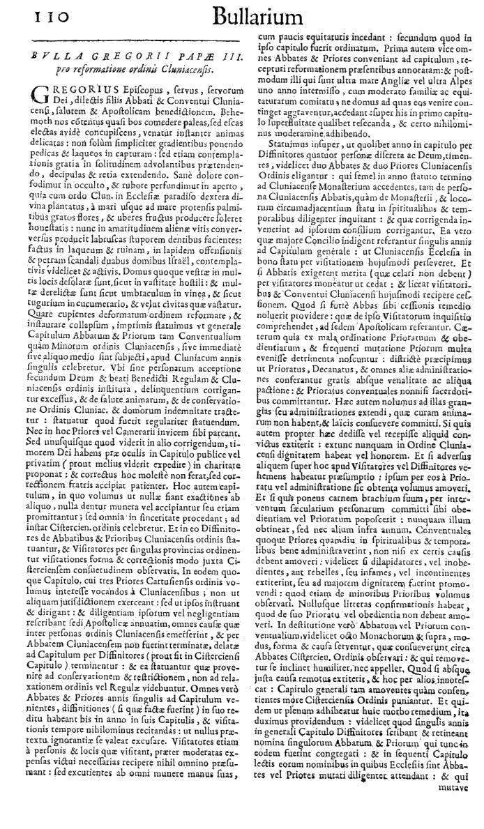 Bullarium Cluniacense p. 110   ⇒ Index privilegiorum