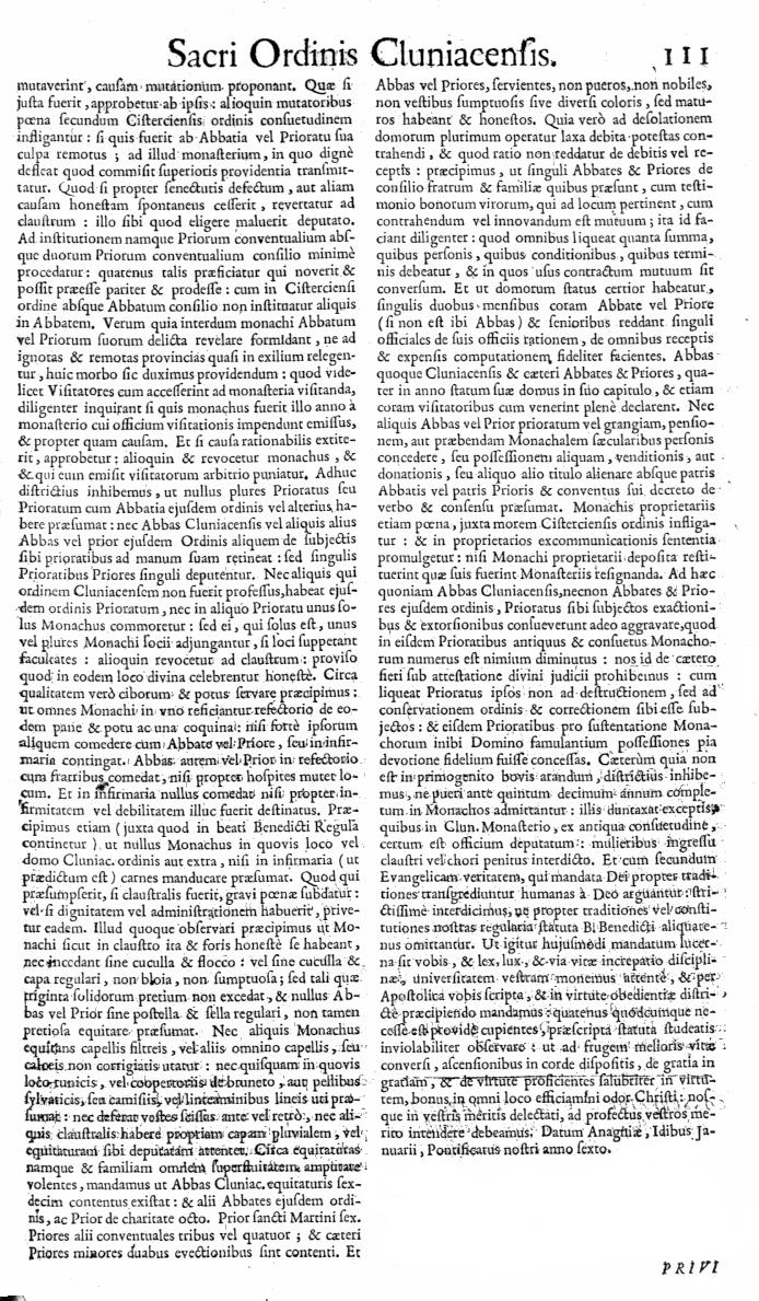 Bullarium Cluniacense p. 111   ⇒ Index privilegiorum