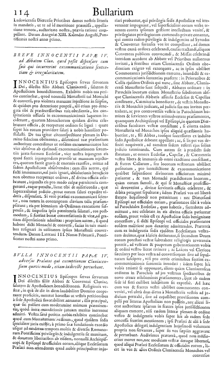 Bullarium Cluniacense p. 114     ⇒ Index privilegiorum