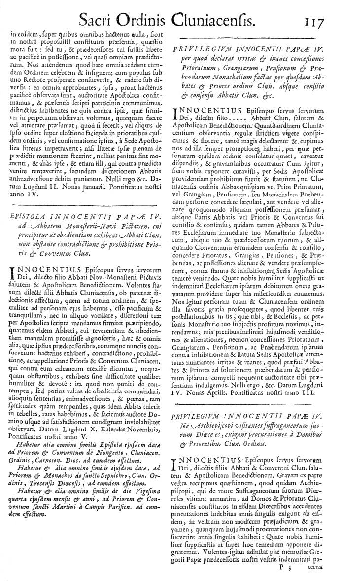 Bullarium Cluniacense p. 117   ⇒ Index privilegiorum